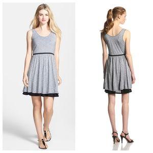 NWT Nordstrom's Kensie Streaky Slub Jersey Dress